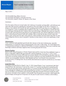 Glenn Hegars letter to Abbott