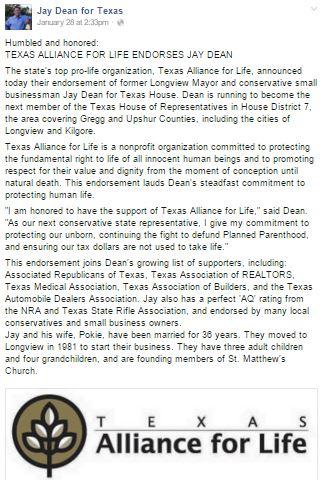 texas alliance for life